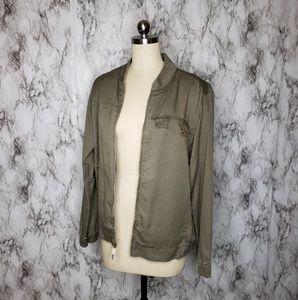 Patagonia Full Zip Military Green Tencel Jacket M